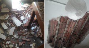 Alquileres: El derrumbe de un cielorraso casi termina en tragedia