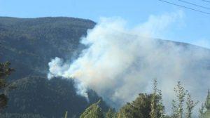 Combaten incendio en Lago Puelo