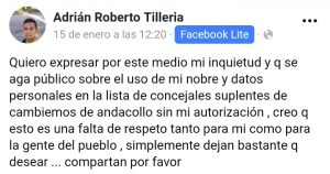 Andacollo: Un hombre denuncia que lo pusieron como candidato sin su consentimiento