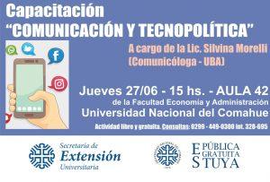 Capacitación sobre tecnopolítica en la Universidad del Comahue