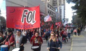 Movimientos sociales neuquinos se plegaron a la jornada nacional de protesta