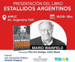 Mario Wainfeld visita Neuquén